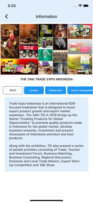 Trade Expo Indonesia 34th 2019 on the App Store