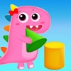恐龙宝宝学3D立体形状数学几何益智游戏