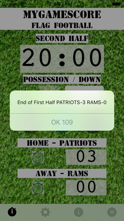 MyGameScore Flag Football screenshot-5