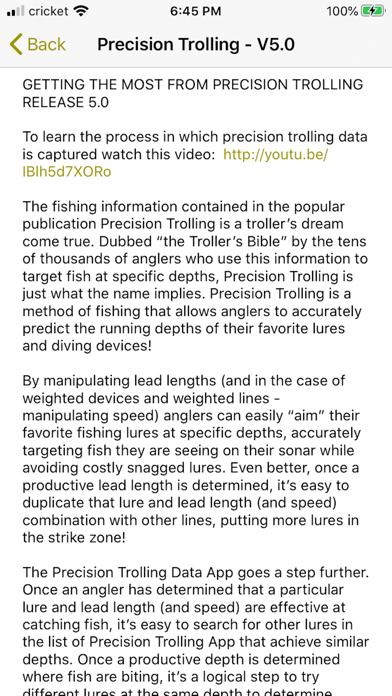 Precision Trolling Screenshot