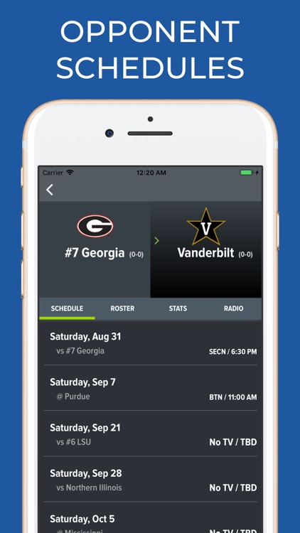 Georgia Football Schedules screenshot-5