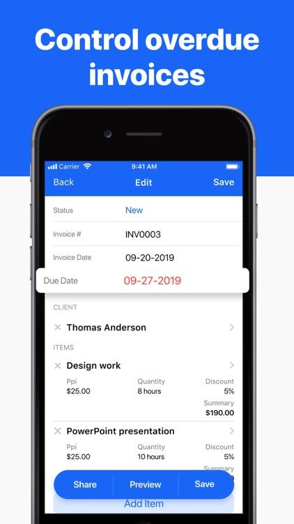 Invoice maker app – invoicing screenshot-4