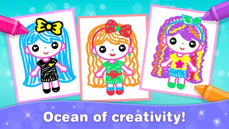 Games for Girls! Kids Drawing! screenshot-4