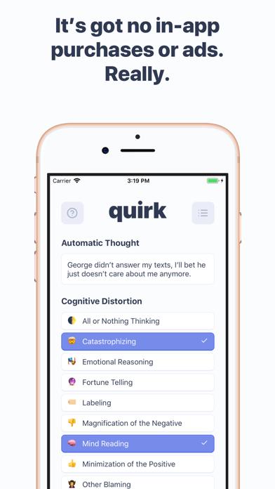 Quirk CBT Screenshot 2