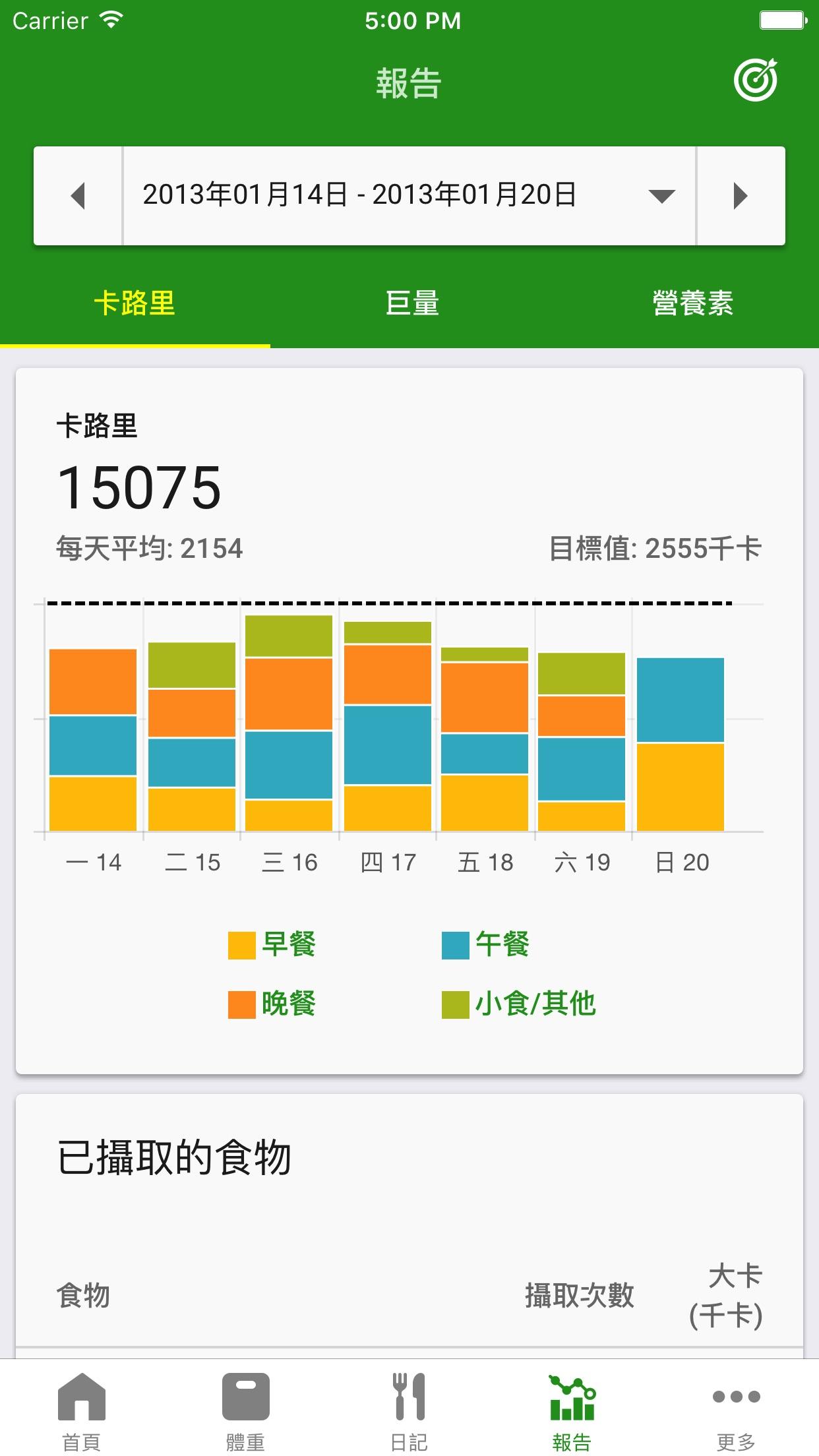 FatSecret卡路里計算器 Screenshot