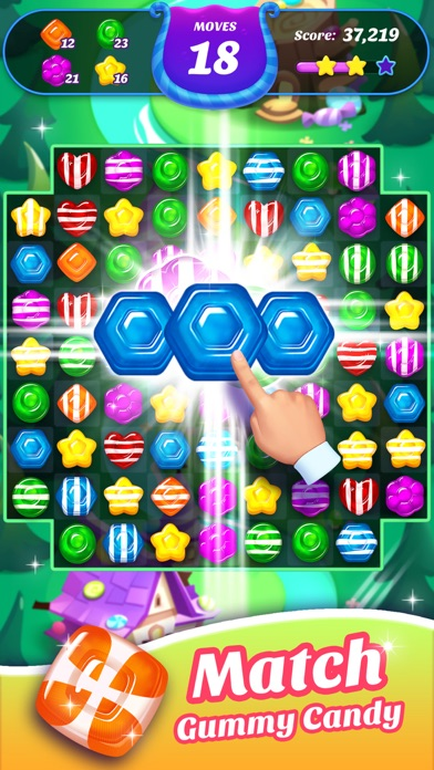 Gummy Candy Blast!Match 3 Game Screenshot on iOS