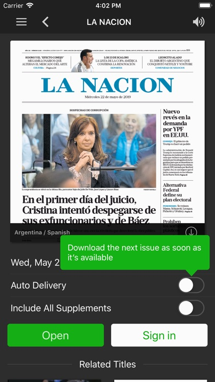 LA NACION Kiosco screenshot-1
