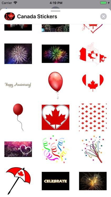 Canada Day Sticker Pack screenshot-3