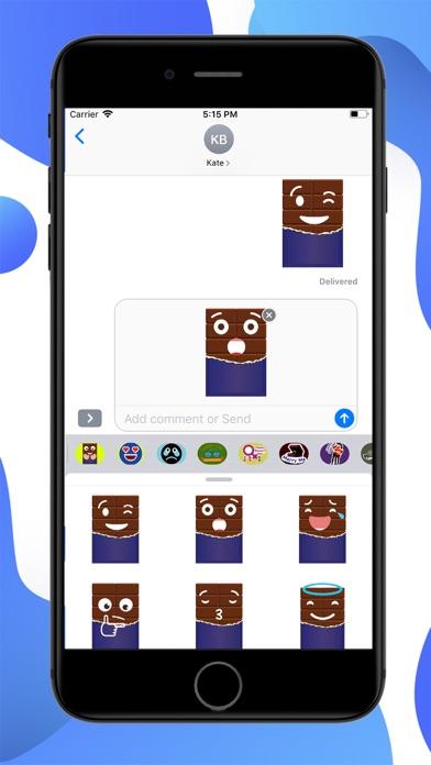 Chocolate Emojis Stickers screenshot 2