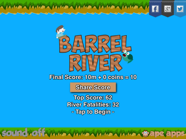Barrel River, game for IOS