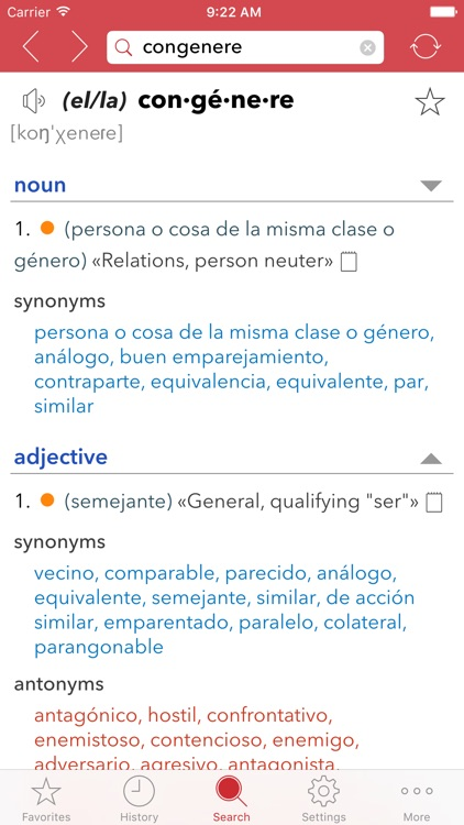Spanish Thesaurus screenshot-4