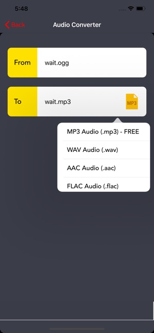 The Audio Converter App on the App Store