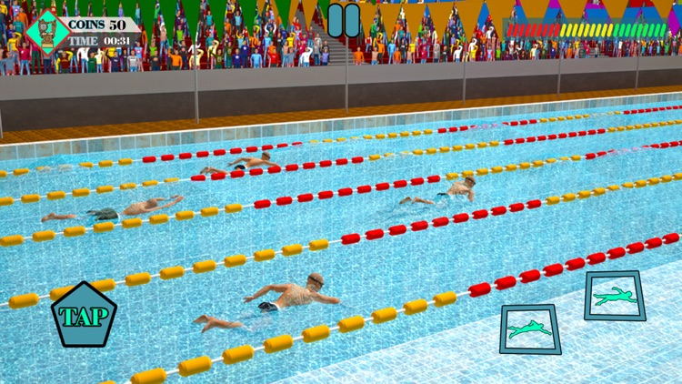Olympic Summer Pool Water Race