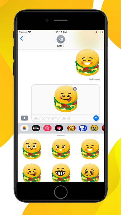 Burger Emoji Sticker screenshot 3