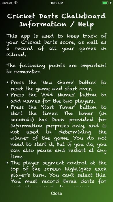 Cricket Darts Chalkboard screenshot four