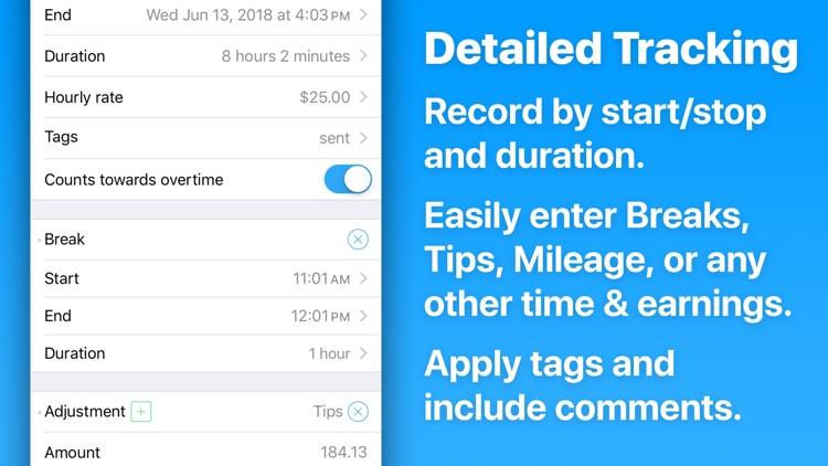 HoursTracker: Hours & Pay screenshot-5