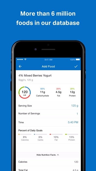 Screenshot for MyFitnessPal in United Kingdom App Store