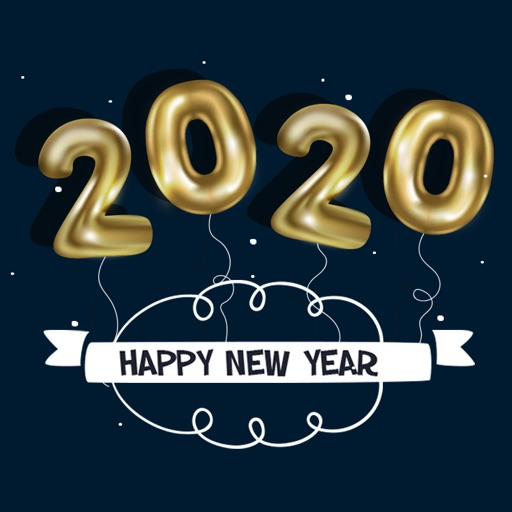 Happy New Year Stickers 2020