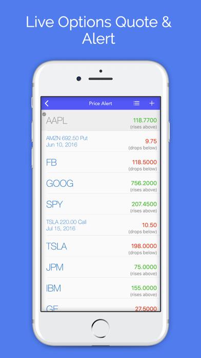 Options : Stock Option Center Screenshot