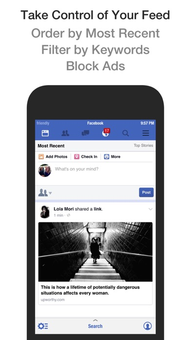 Screenshots for Friendly Plus for Facebook