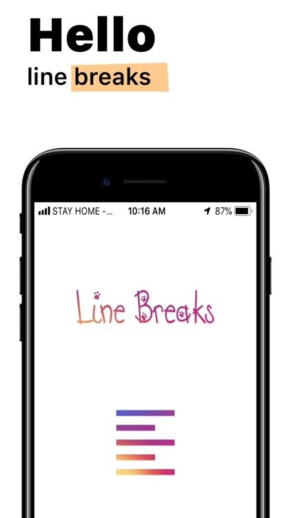 Line Breaks for Instagram