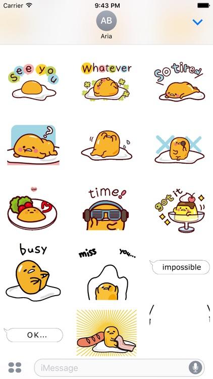 Animated Gudetama Egg Sticker