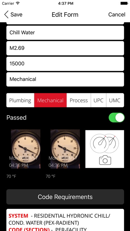 Pressure Test App