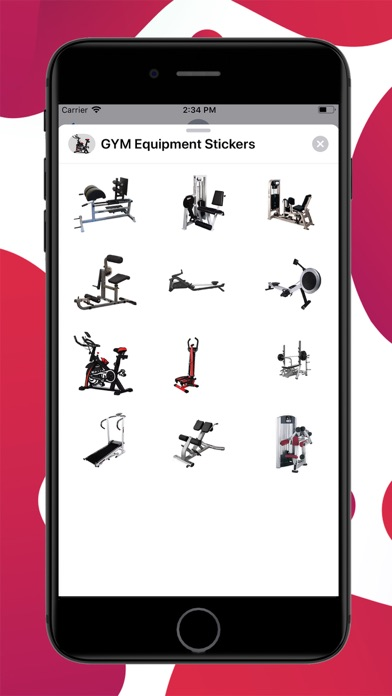 GYM Equipment Stickers screenshot 1
