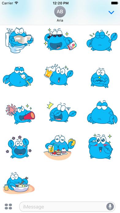 Animated Blue Crab Stickers screenshot 4