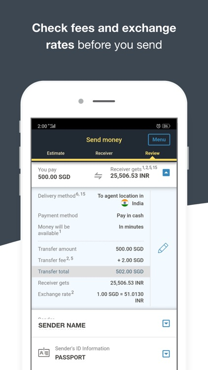 Money Transfer WesternUnion SG screenshot-4