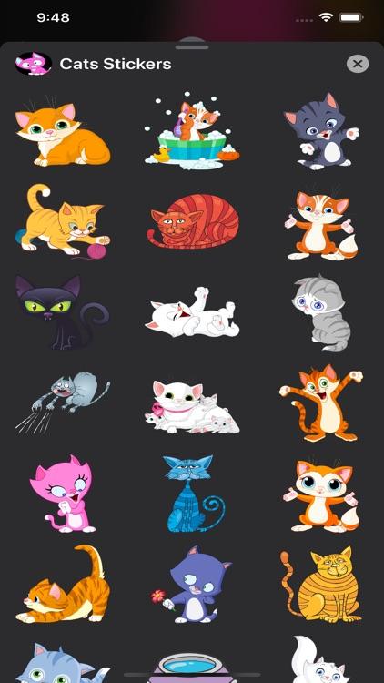 Cats Stickers & Emojis