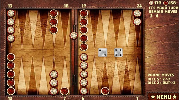 Backgammon with 16 Games