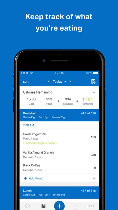 Screenshot for MyFitnessPal in Egypt App Store