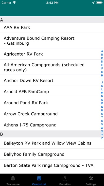 Tennessee – Camping & RV Parks screenshot-2
