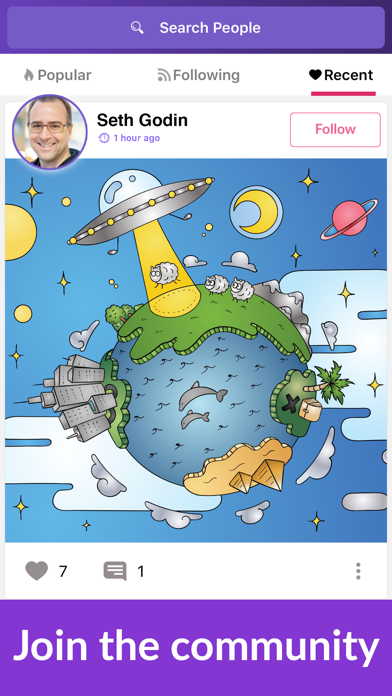 Colorgram: Adult coloring book Screenshot
