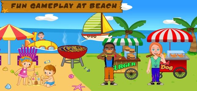 giả vờ chơi cuộc sống bãi biển