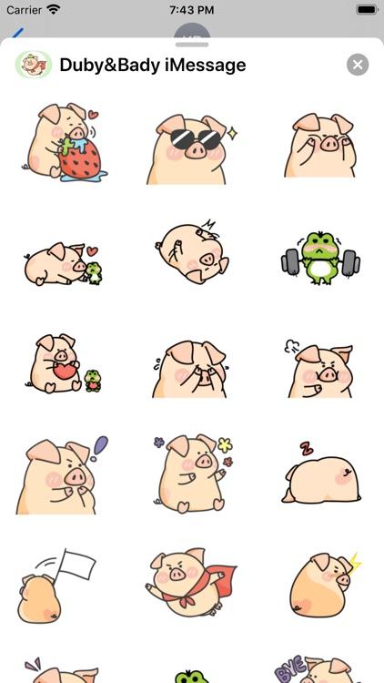 Piggy Duby&Frog Bady -Stickers screenshot-3