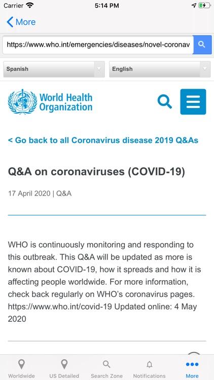 Coronavirus COVID Tracker screenshot-7