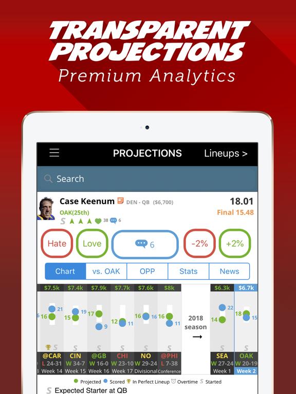 LineStar - Optimal Lineups for FanDuel screenshot