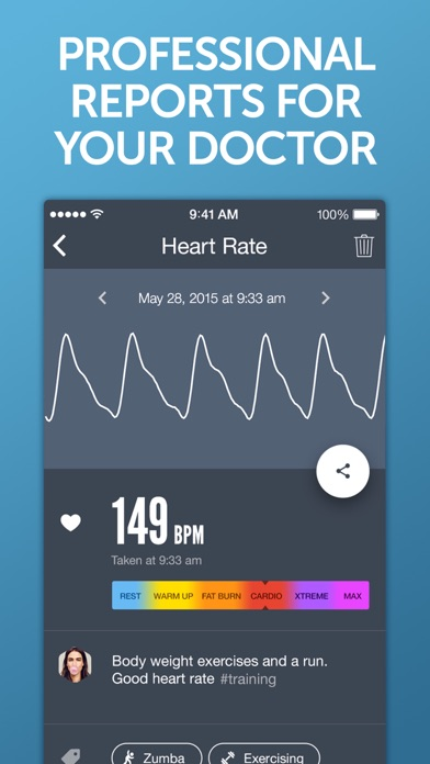 Screenshot for Instant Heart Rate+ HR Monitor in South Africa App Store