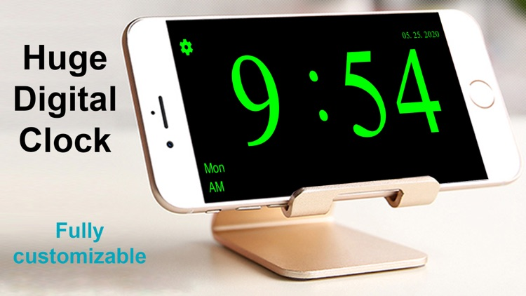 Huge Digital Clock screenshot-3