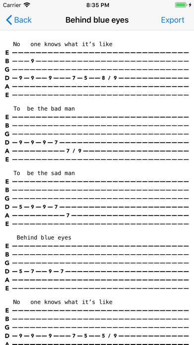 Guitar Tab Maker screenshot four