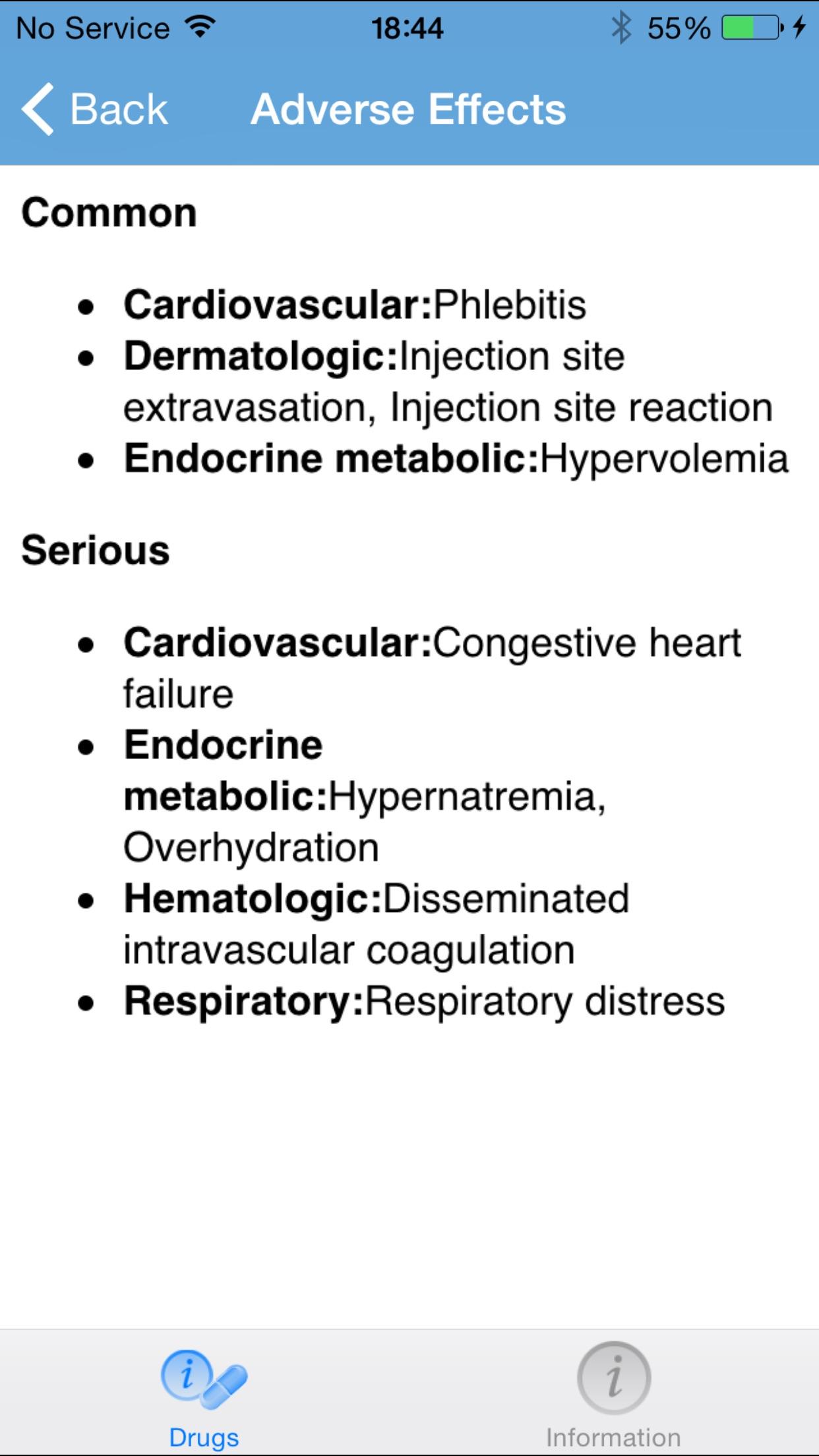 IBM Micromedex Drug Ref Screenshot