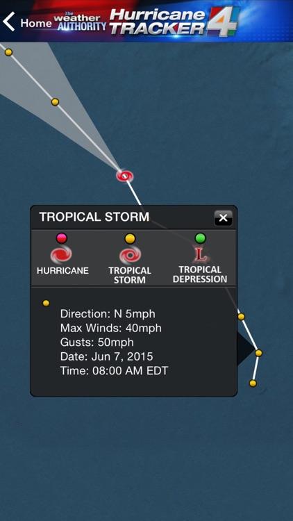 WJXT Hurricane Tracker screenshot-3
