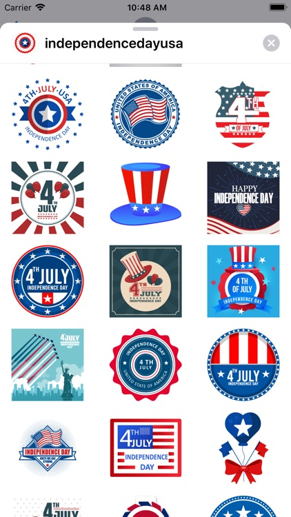 Independence day USA stickers