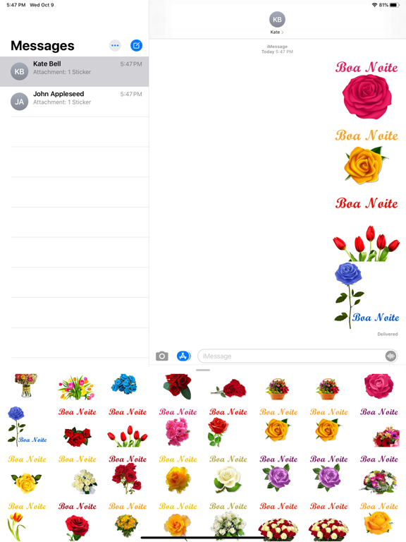 Figurinhas de Boa noite Flores screenshot 13