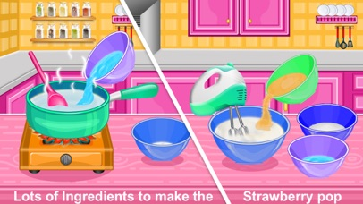 Strawberry Pops Cooking Games screenshot 2