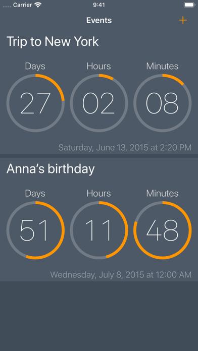 Await - Event Countdown screenshot one