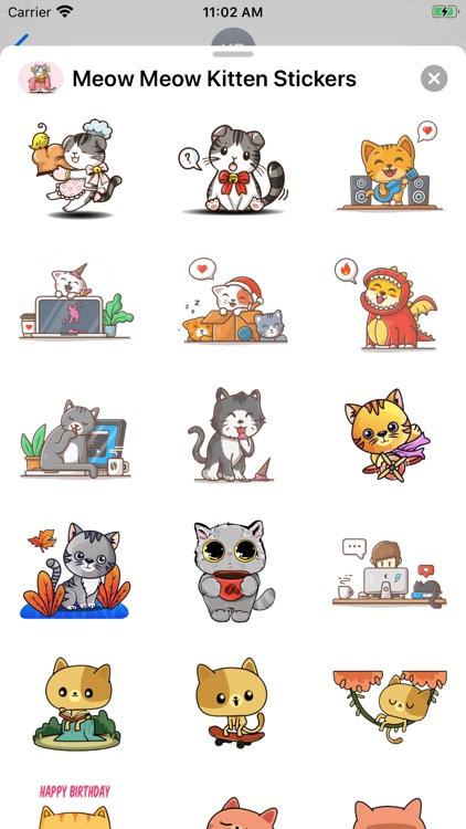 Meow Meow Kitten Stickers