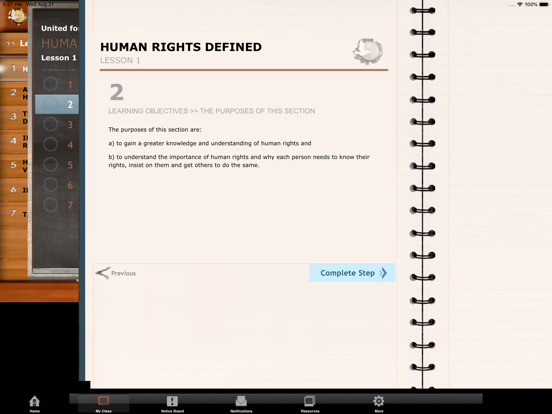 United for Human Rights Online Education screenshot